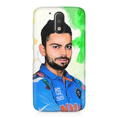 Virat Kohli Oil Painting India design,  Moto G4/G4 Plus printed back cover
