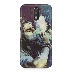 Smoking weed design Moto G4 Play printed back cover
