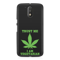 Vegan weeed design Moto G4/G4 Plus printed back cover