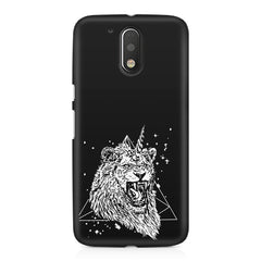 Furious unicorn design Moto G4/G4 Plus printed back cover
