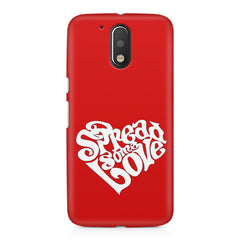 Spread some love design Moto G4/G4 Plus printed back cover
