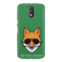 No fox given design Moto G4/G4 Plus printed back cover