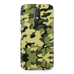 Camoflauge army color design Moto G4 Play printed back cover