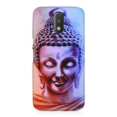 Lord Buddha design Moto G4 Play printed back cover