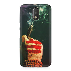Smoke weed (chillam) design Moto G4/G4 Plus printed back cover