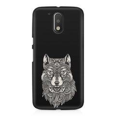 Fox illustration design Moto G4 Play printed back cover
