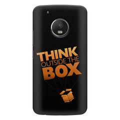 Think Outside The Box- Entrepreneur Lines design,  Moto G5s Plus  printed back cover
