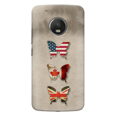 Butterfly in country flag colors Moto G5s Plus  printed back cover