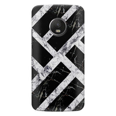 Black & white rectangular bars  Moto G5s Plus  printed back cover