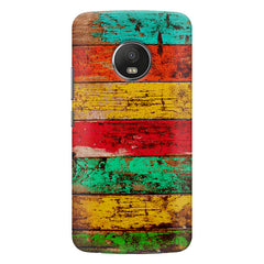 Strips of old painted woods  Moto G5s Plus  printed back cover