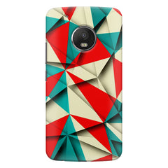 Brown and white textured  Moto G5s Plus  printed back cover