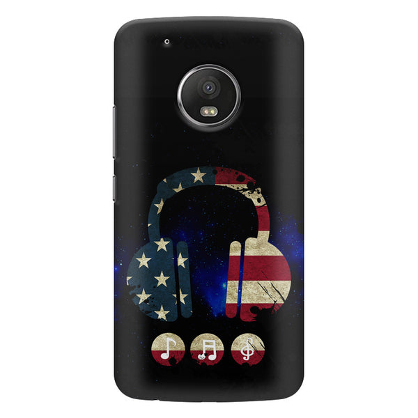 America tunes Blue sprayed  Moto G5 Plus  printed back cover