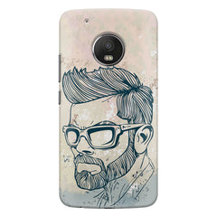 Virat Kohli Stylish Abstract Art design,   Moto G5S Plus hard plastic all side printed back cover.