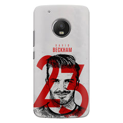 David Beckhan 23 Real Madrid design,   Moto G5S Plus hard plastic all side printed back cover.