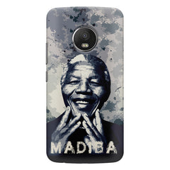 Nelson Mandela Madiba Abstract Art design,   Moto G5S Plus hard plastic all side printed back cover.