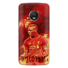Mario Balotelli Barwuah OGC Nice Forward Footballer design,   Moto G5S Plus hard plastic all side printed back cover.
