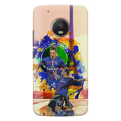 Zlatan Ibrahimovic Famous Footballer design,   Moto G5S Plus hard plastic all side printed back cover.