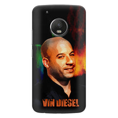 Vin Diesel Oil Painting Fanart design,   Moto G5S Plus hard plastic all side printed back cover.