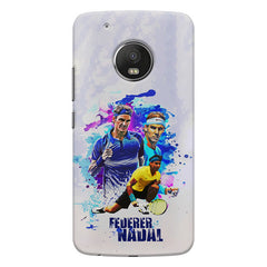 Federer and Nadal Oil Fanart design,   Moto G5S Plus hard plastic all side printed back cover.