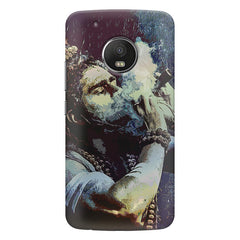 Smoking weed design  Moto G5S Plus hard plastic all side printed back cover.