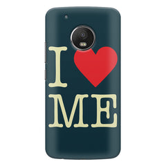 I love myself design  Moto G5S Plus hard plastic all side printed back cover.
