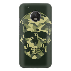 Military Skull Print Moto E4 plus hard plastic printed back cover