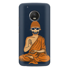 Funny Meditating Avatar of a skull Moto E4 plus hard plastic printed back cover