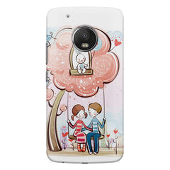 Couple on a swing Romantic design Moto G6 Plus hard plastic printed back cover