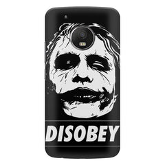 Joker disobey design all side printed hard back cover by Motivate box Moto G5S Plus hard plastic all side printed back cover.