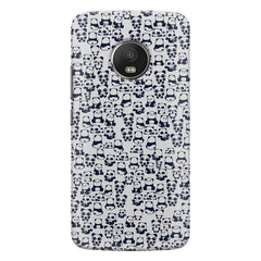 Cute Pandas all over the cover design    Moto G5 Plus hard plastic printed back cover