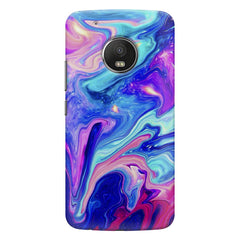 Colours spill design    Moto G6 hard plastic printed back cover