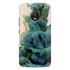 Coloured smoke design    Moto G6 hard plastic printed back cover