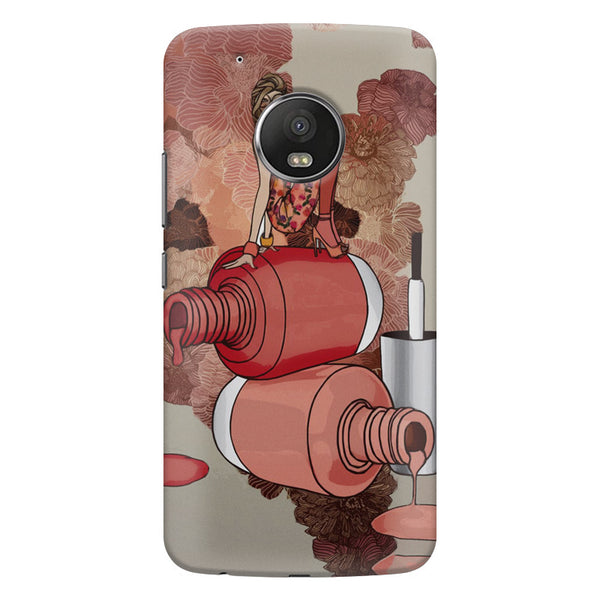 Fallen Nail paint Design Moto G6 Plus hard plastic printed back cover