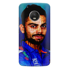 Virat Kohli India inscribed design    Moto G6 hard plastic printed back cover