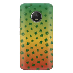 Multicolour leaf overall design Moto G5S Plus hard plastic all side printed back cover.