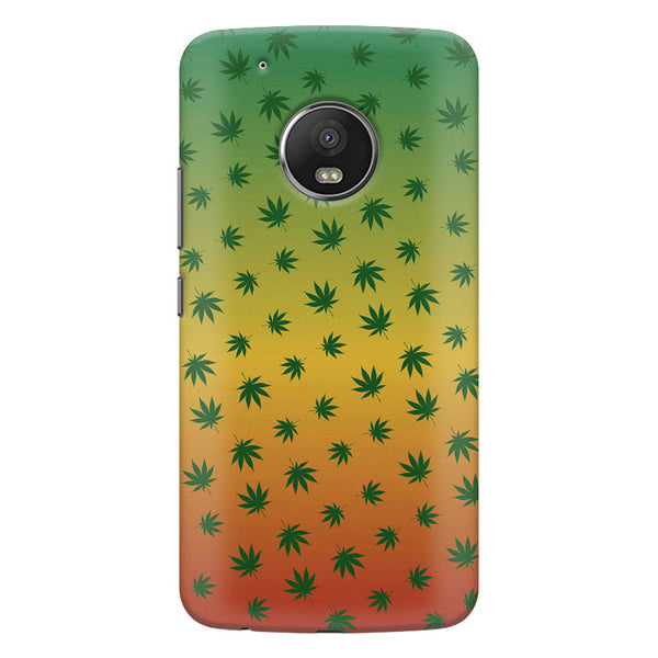 Multicolour leaf overall design Moto G6 Plus hard plastic printed back cover