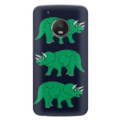 Stegosaurus cartoon design Moto G5S Plus hard plastic all side printed back cover.