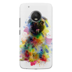 Colours splashed pug all side printed hard back cover by Motivate box Moto G5S Plus hard plastic all side printed back cover.