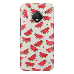 Water melon pattern design    Moto G5 Plus hard plastic printed back cover