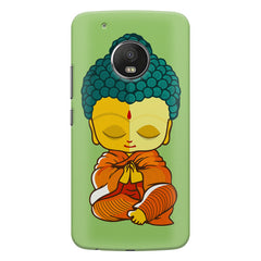 Miniature Buddha Caricature Moto G5S Plus hard plastic all side printed back cover.