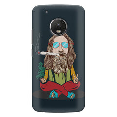 Baba Smoking Cigar design Moto G5S Plus hard plastic all side printed back cover.