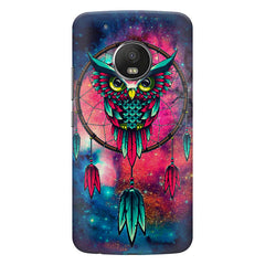 Good luck Owl sketch design    Moto G5 Plus hard plastic printed back cover