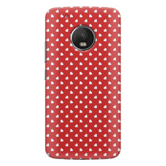 Cute hearts all over the cover design    Moto G5s Plus hard plastic printed back cover