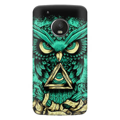 Owl Art design,  Moto G5s Plus  printed back cover