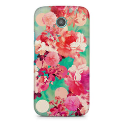 Floral  design,  Moto E printed back cover