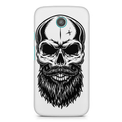 Skull with the beard  design,  Moto G printed back cover