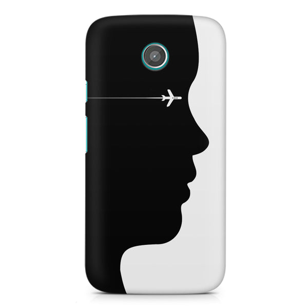 Airplane Moto X printed back cover