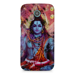 Shiva painted design Moto G printed back cover