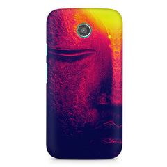 Half red face sculpture  Moto G printed back cover