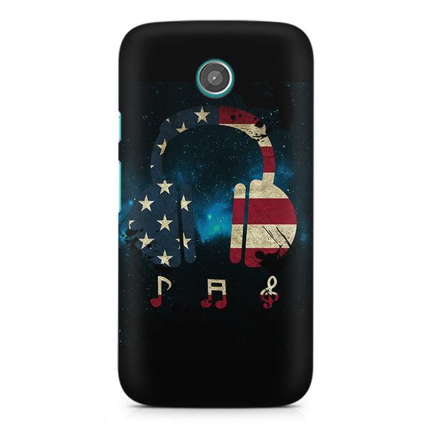 America tunes Blue sprayed Moto X printed back cover